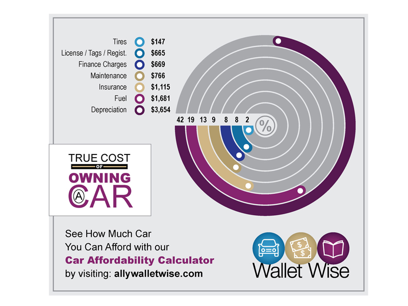 ally infographic cost own car