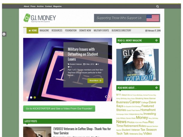 G.I. Money Foundation – Website