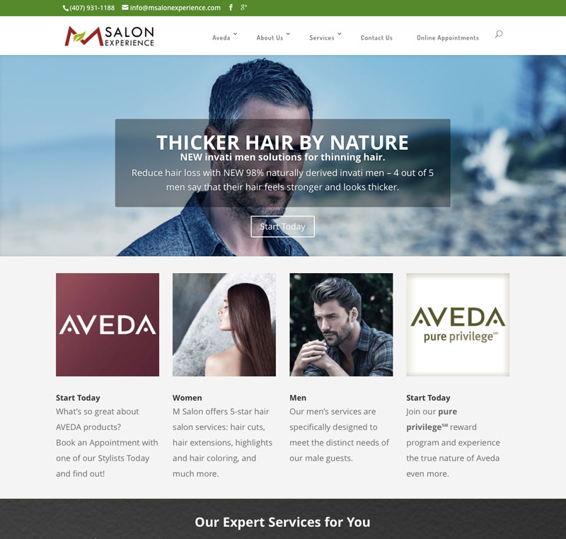 M Salon Experience – Aveda
